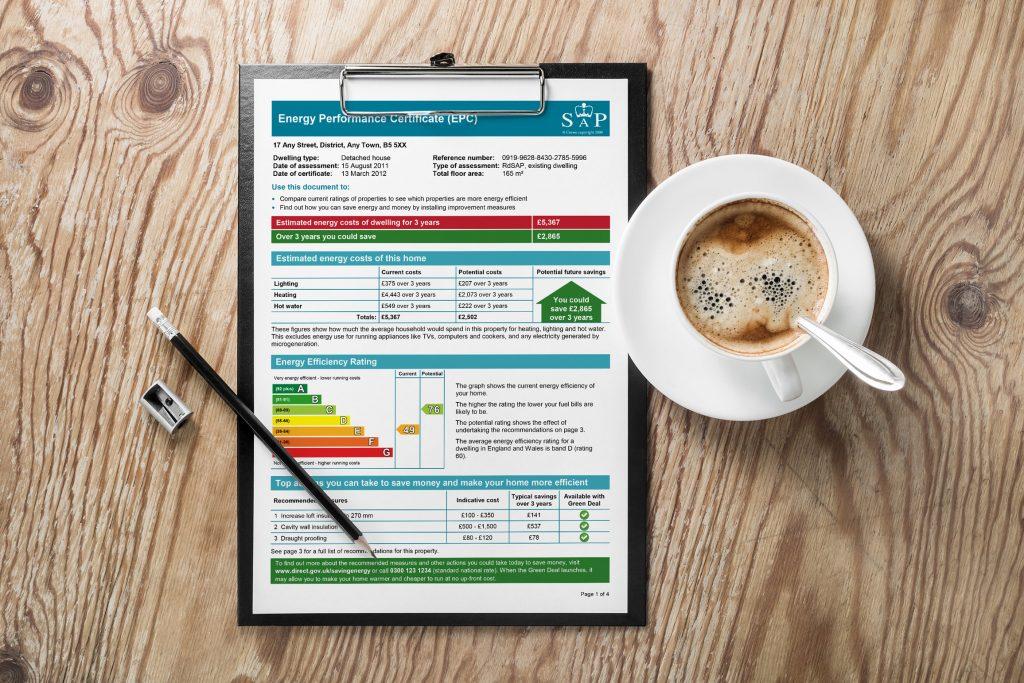 Energy Performance Certificate Clipboard
